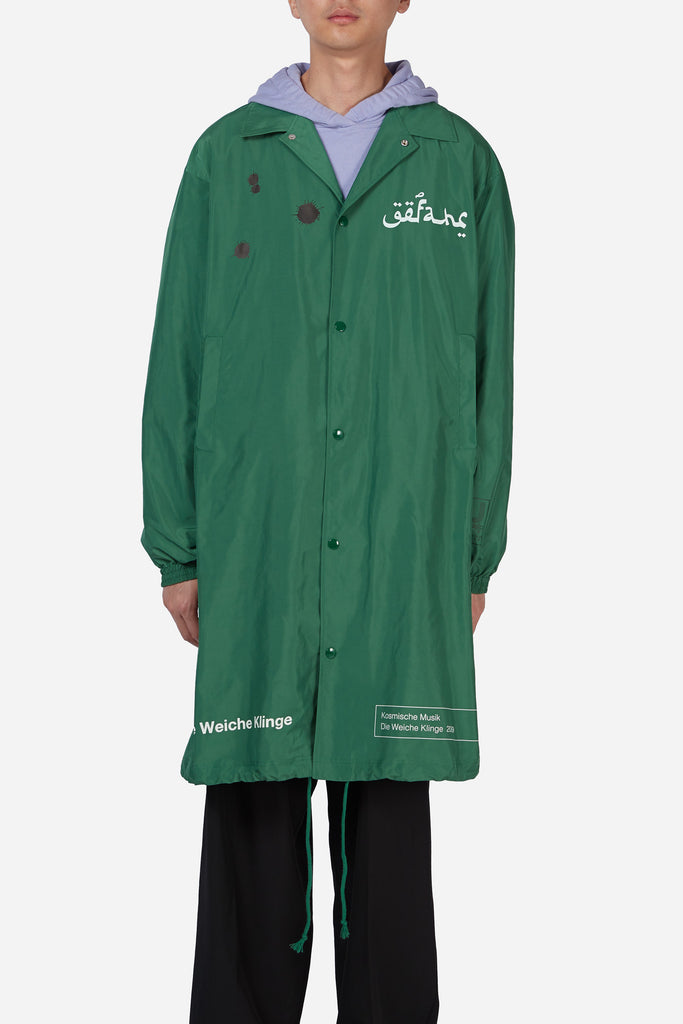 Green Nylon Rain Jacket