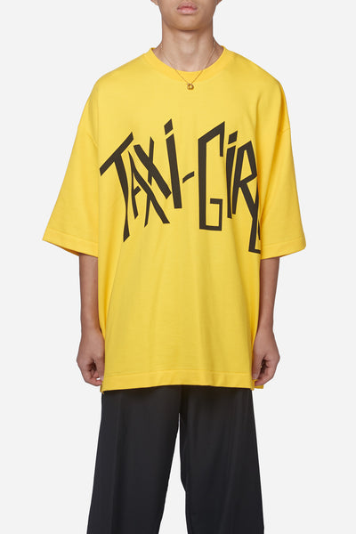 Etudes Studio - Desert Taxi Girl Yellow Oversized Tee