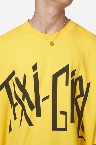 Desert Taxi Girl Yellow Oversized Tee
