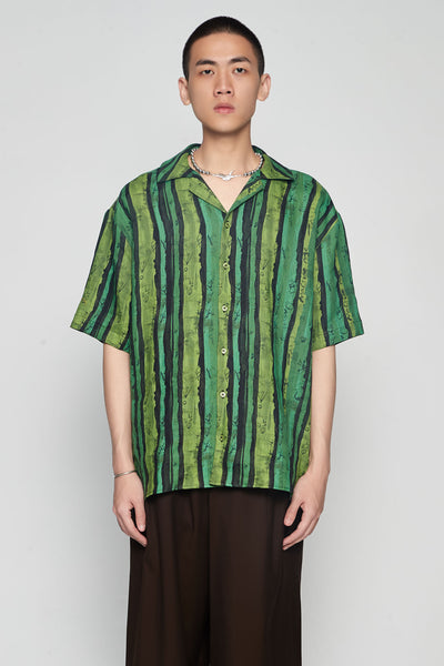 Martine Rose - Hawaiian Shirt Green Stripe