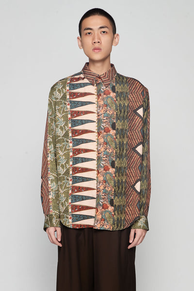 Martine Rose - Classic Shirt Brown Mandela