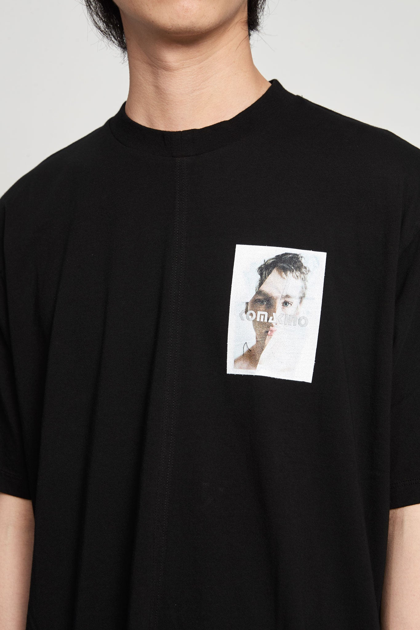 Boxy Cut Jersey T-shirt Crashed 3m Black