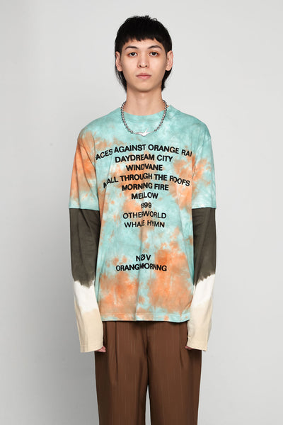 Vyner Articles - Tiedye - Neov Print Skater T-shirt Jersey Orange/blue