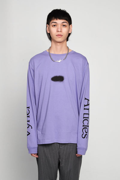 Vyner Articles - Acid Spray Print Long Sleeves T-shirt Jersey Lilac