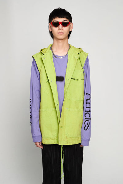 Vyner Articles - Worker Gilet Canvas Green