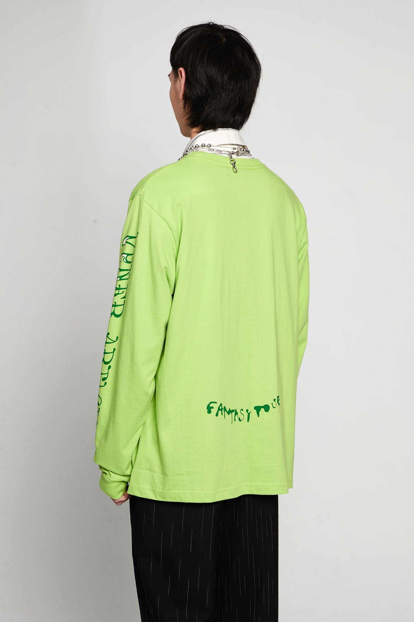 Fantasy Tour Print Long Sleeves T-shirt Jersey Green