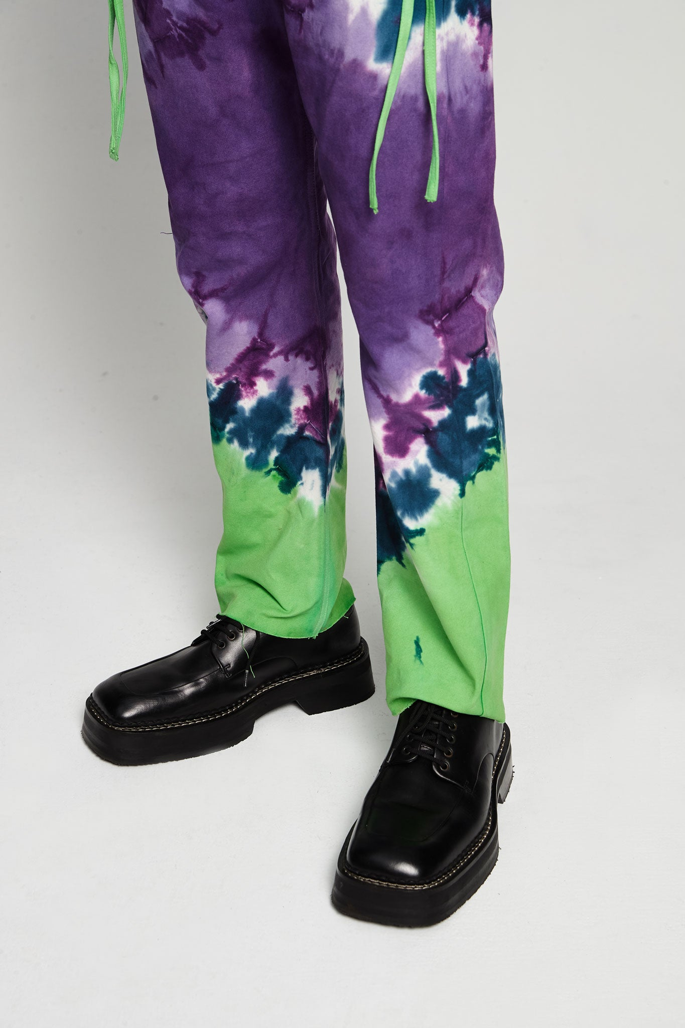 Tie Dye Karate Pant Canvas Lilac/green