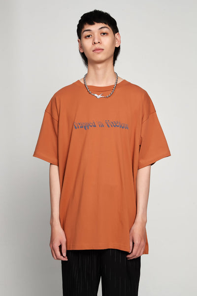 Vyner Articles - Trapped Print Vision T-shirt Jersey Brown