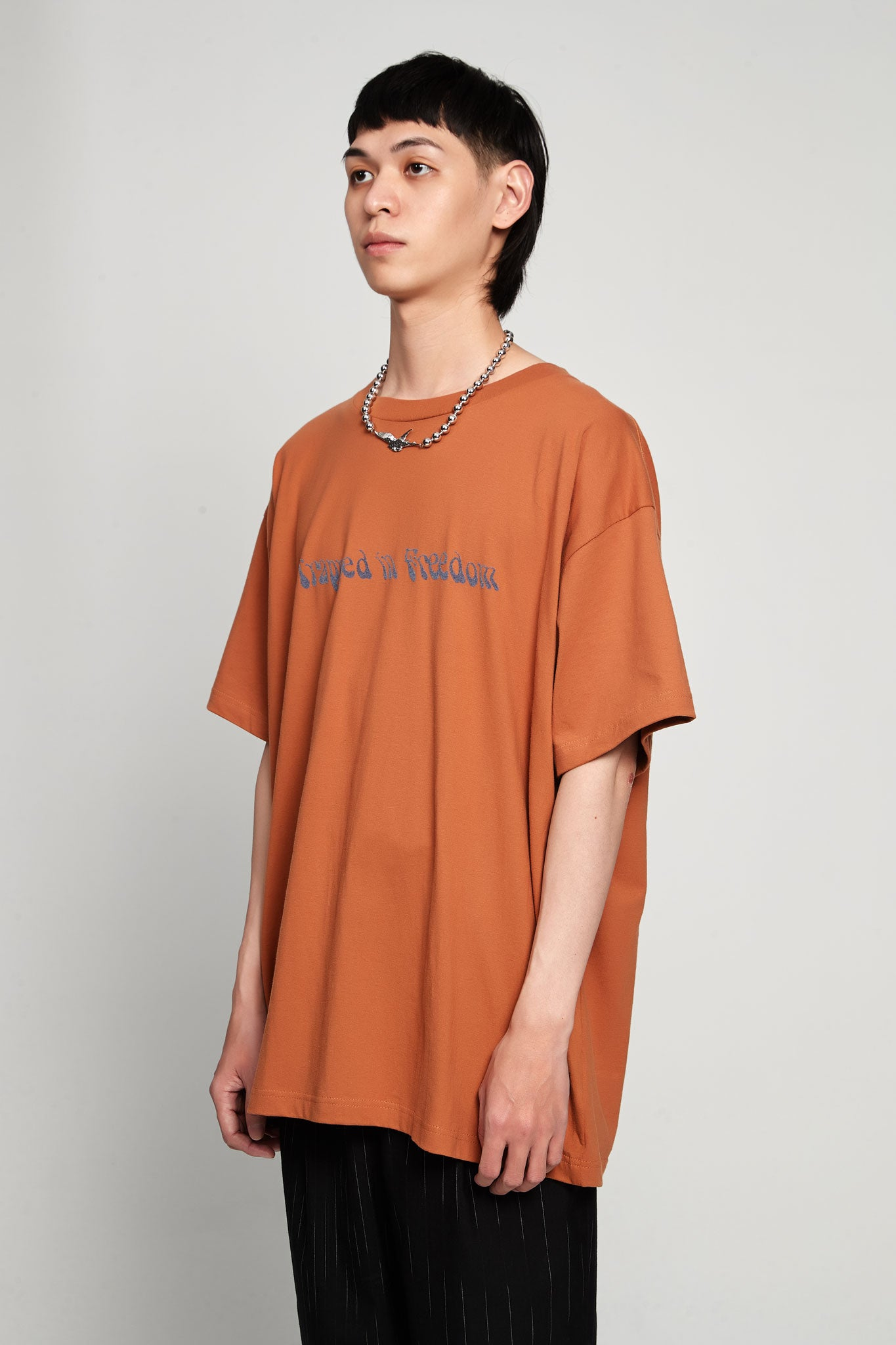 Trapped Print Vision T-shirt Jersey Brown