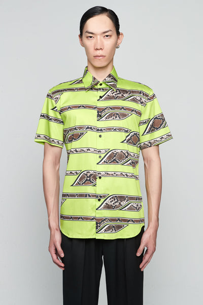 SSS World Corp - Short Sleeve Shirt Stretch Cot LIME