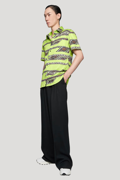 Short Sleeve Shirt Stretch Cot LIME