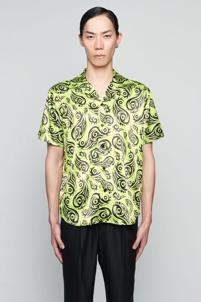 SSS World Corp - Hawaiian Shirt Short Sleeve LIME