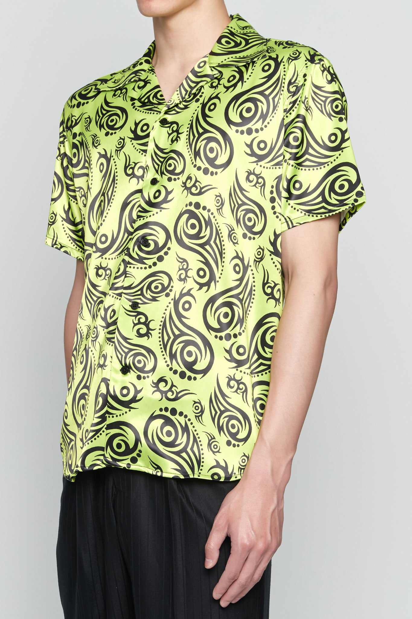 Hawaiian Shirt Short Sleeve LIME