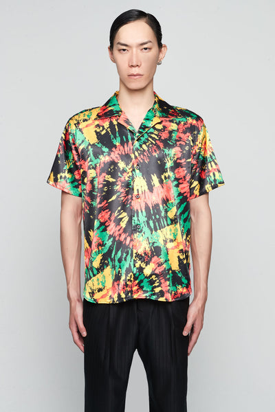 SSS World Corp - Hawaiian Shirt Short Sleeve BLACK MULTI