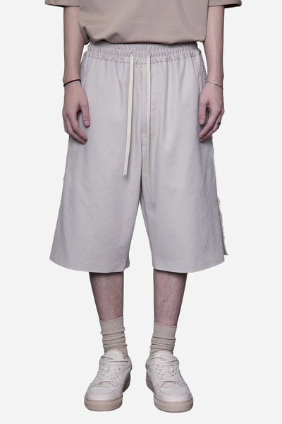 Ne.Sense - Shirting Raw Split Bball Long Shorts Lions Tan