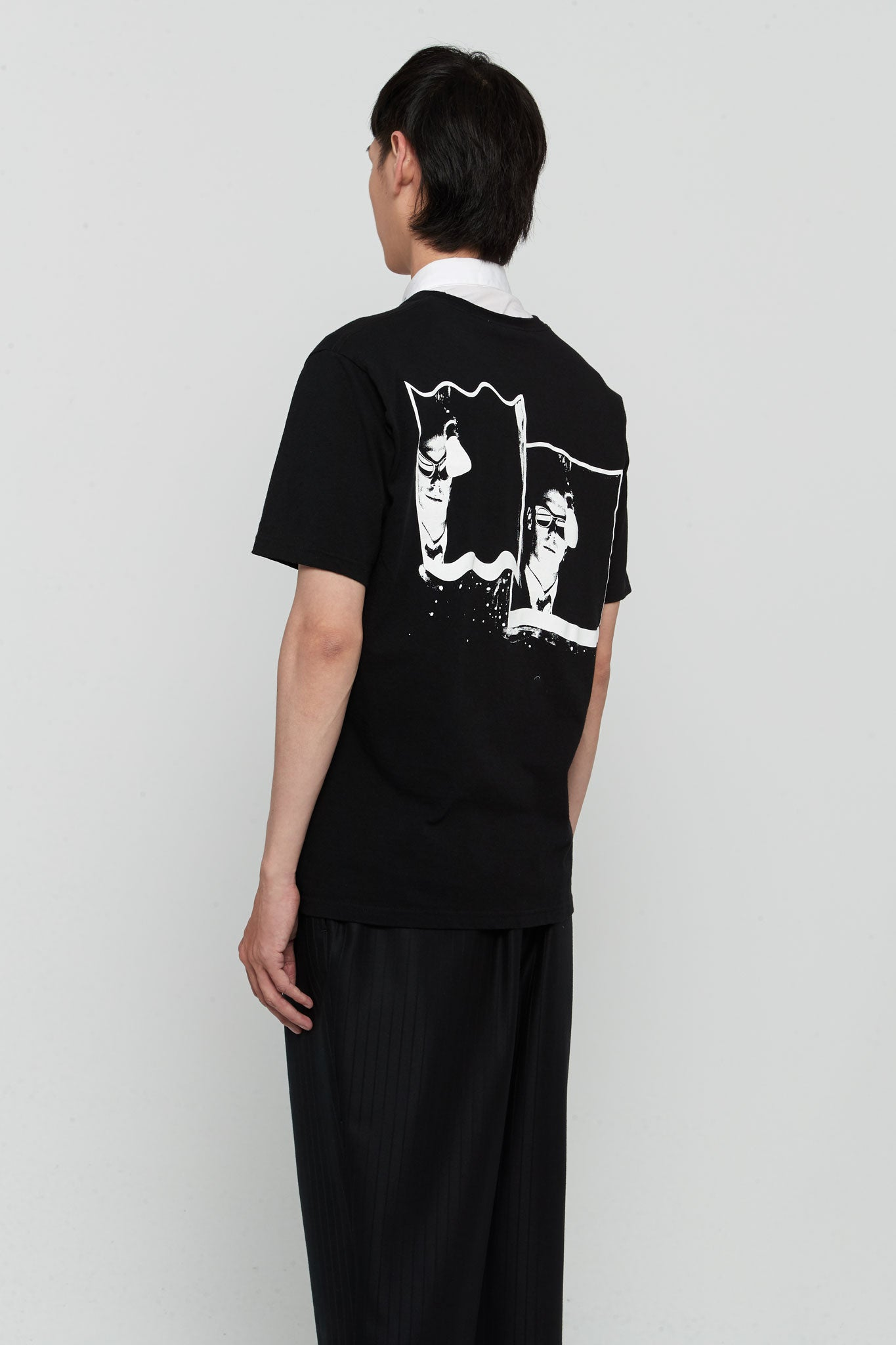 Graphic Printed Tee Black Twisted face