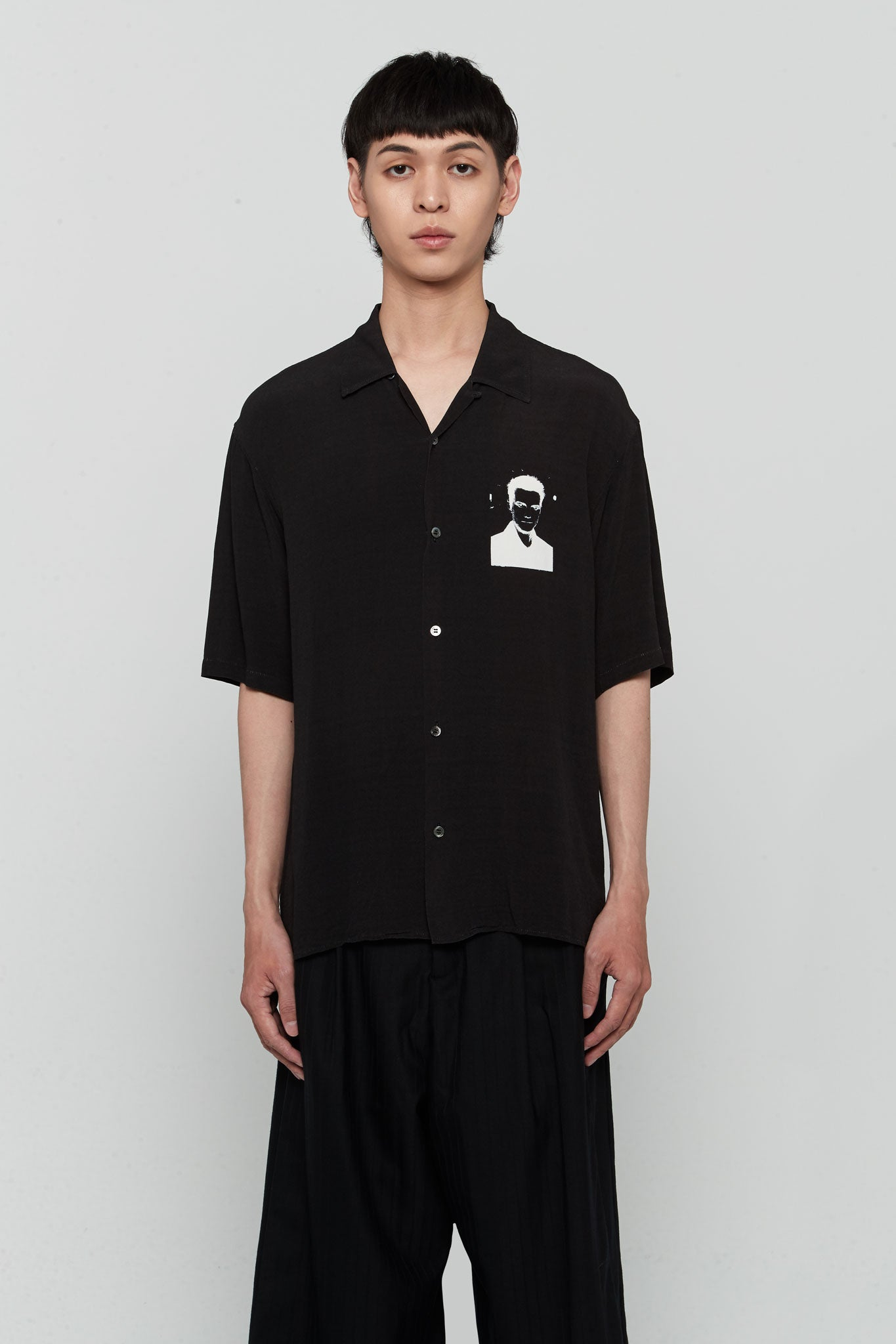 S/S Printed Shirt Black