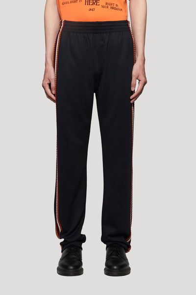 Wales Bonner - Palms Crochet Stripe Track Pants Black