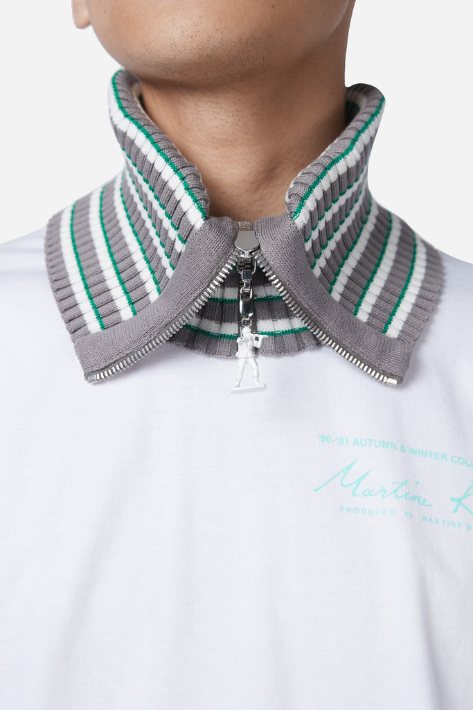 Grey Striped Neckband
