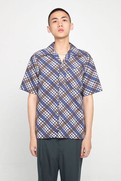 Marni - Check Blue Brown SS Shirt