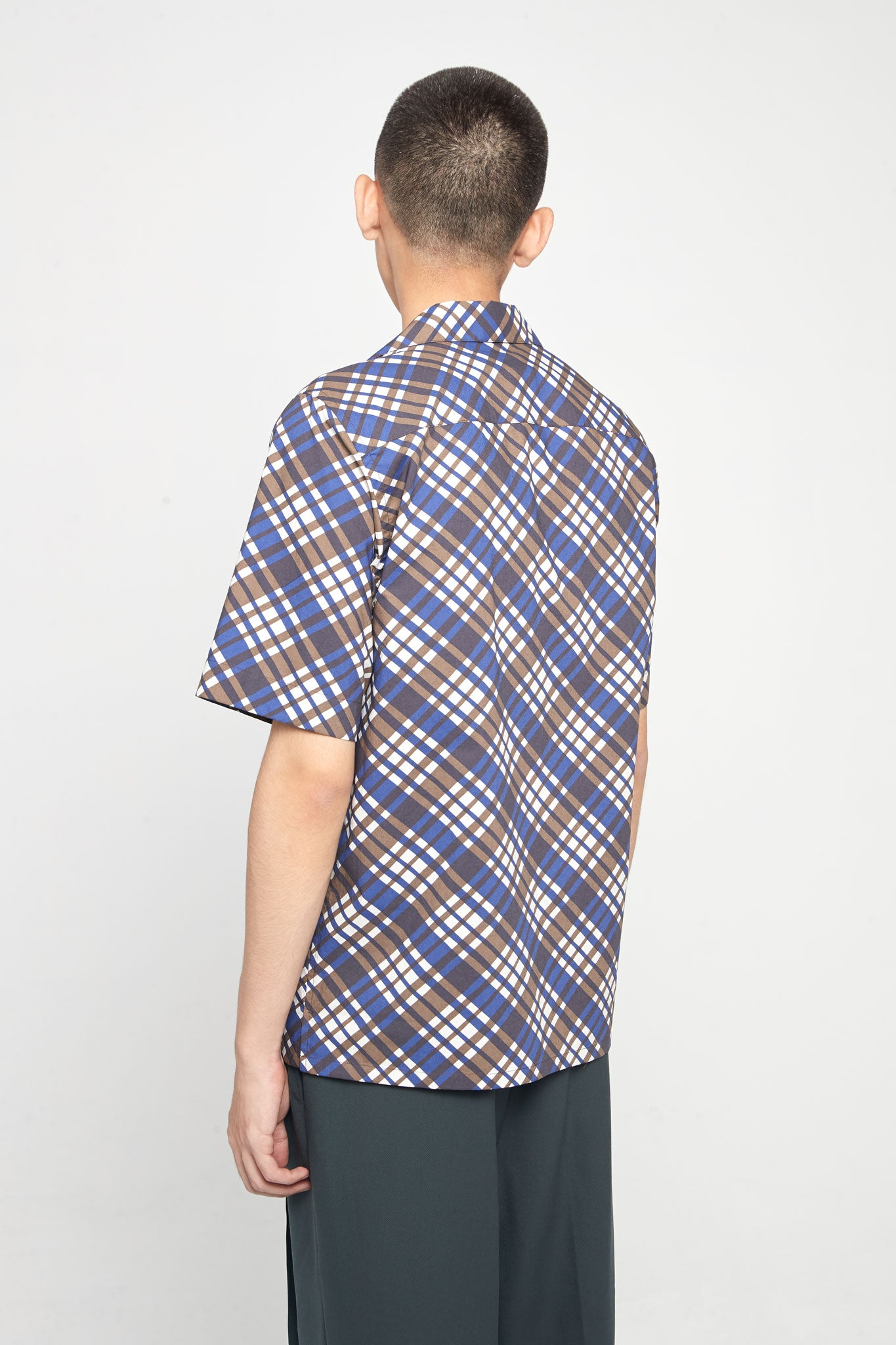 Check Blue Brown SS Shirt