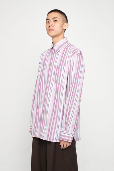 Marni - Pink Purple Stripe Oversized Shirt