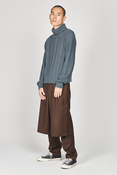 Jackson Textured Boxy Turtleneck Sweater Glacier Blue