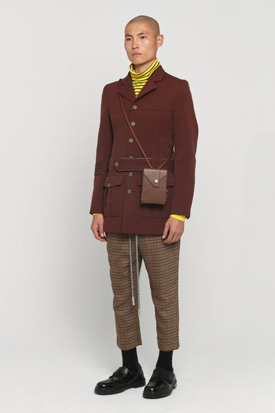 Thorn Military Uniform Coat Cinnamon Brown Gabardine