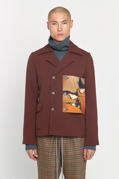 Closed Window - Lucien Military Patches Jacket Cinnamon Brown Gabardine