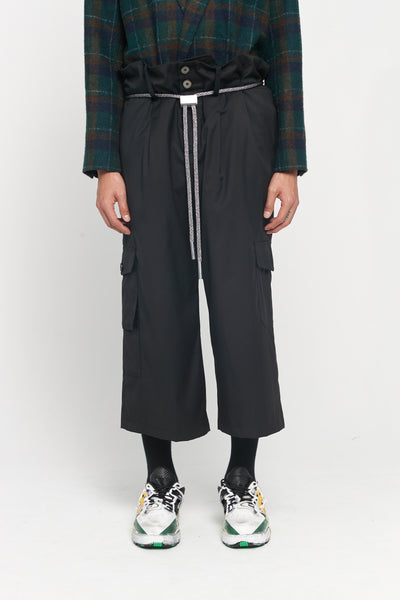 Closed Window - Sail Oversized Waist Drawcord Trouser Dry Onyx