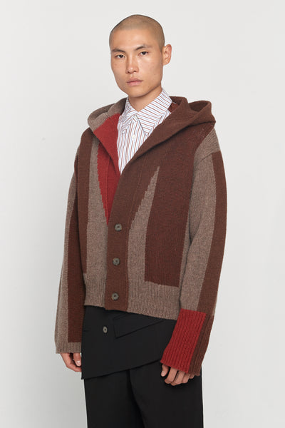 Closed Window - Coli Lauren Hooded Cardigan Sunset