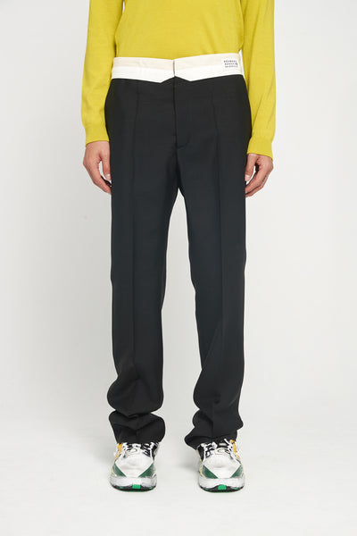 Maison Margiela - Black Tropical Wool Mohair Trouser