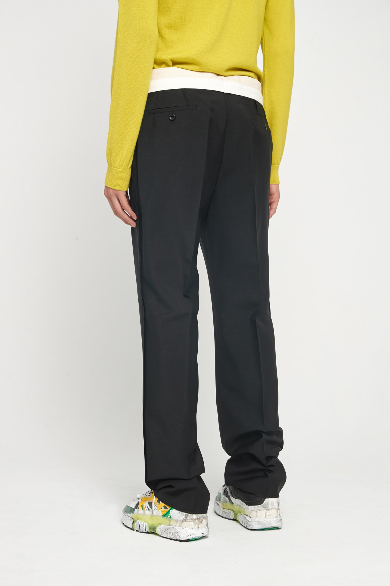 Black Tropical Wool Mohair Trouser