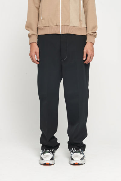 Maison Margiela - Wool-poly Gabardine Pants Black