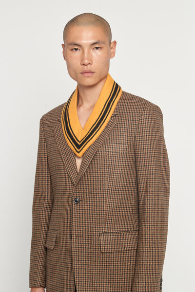 Maison Margiela - Walnut Houndstooth Felt Suit Jacket