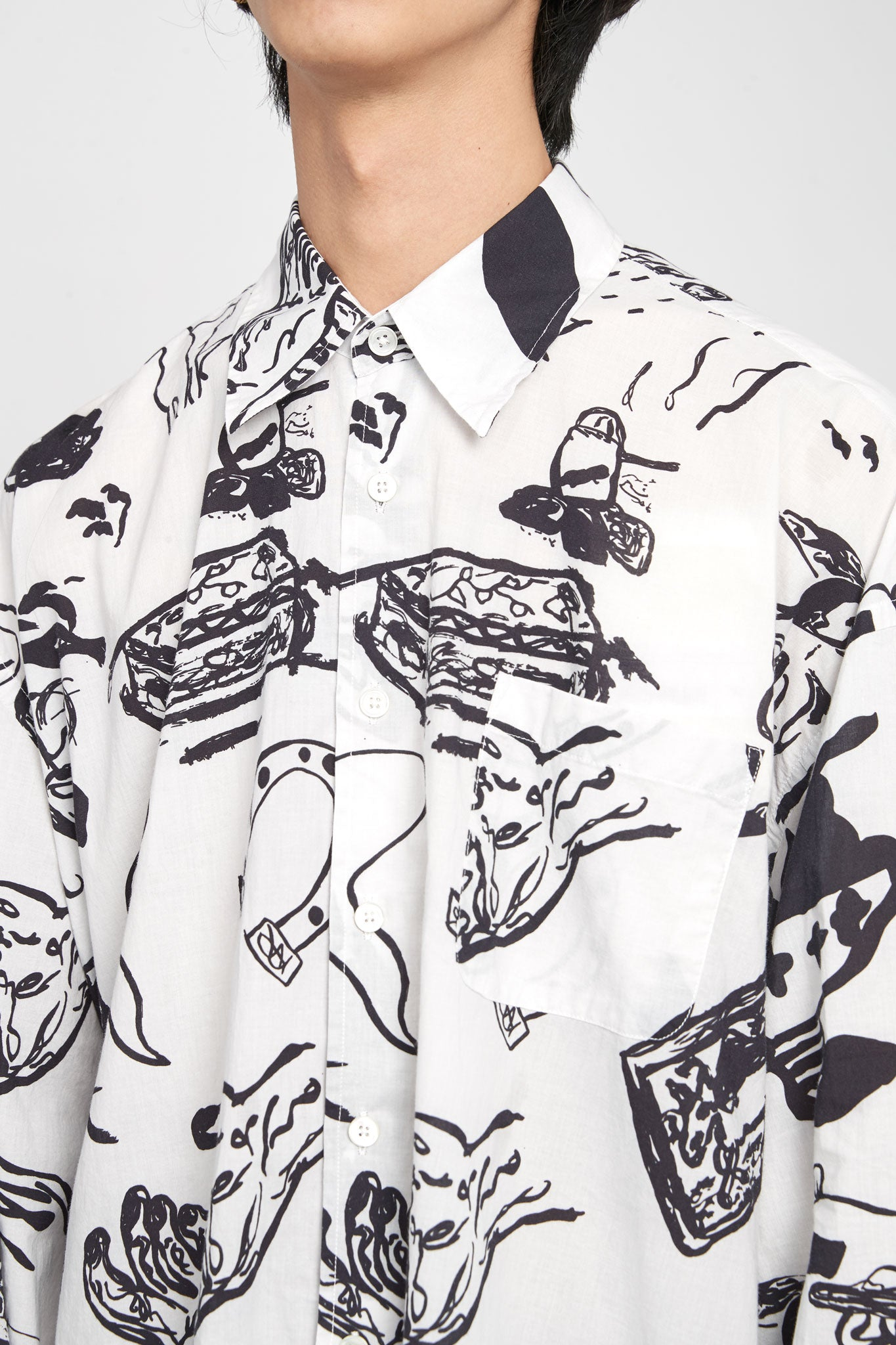 Borrowed Classic Shirt Story Print