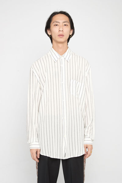 Our Legacy - Initial Shirt Crepe Cigarill Stripe