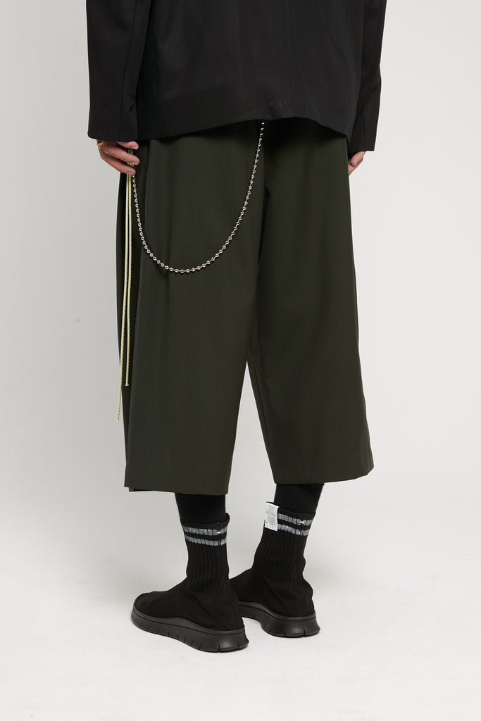 Gabardine Bucket Pants Green