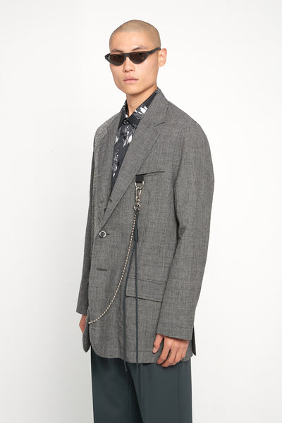 Song for the mute - Oversized Blazer Charcoal