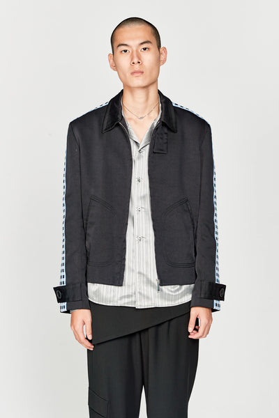 Wales Bonner - Classic Zip Jacket With Knit Tape