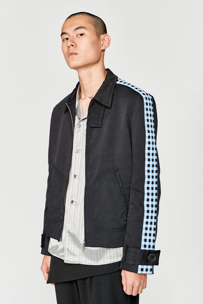 Classic Zip Jacket With Knit Tape