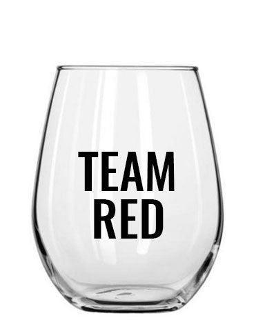 team red. wine glass