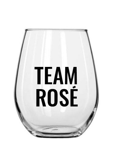 team rosé. wine glass