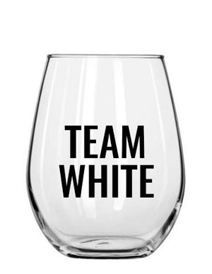 team white. wine glass