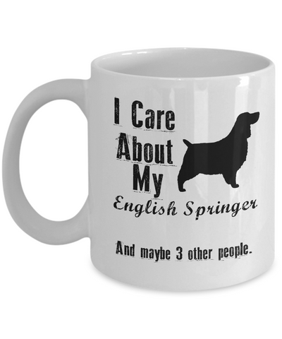 I Care About My English Springer