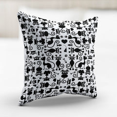 Cats White Pillowcase