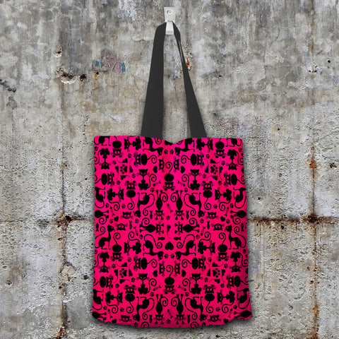 Cats Pink Tote Bag