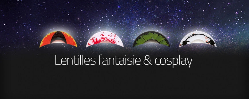 Lentilles de couleur fantaisie - Enlarge your cosplay avec Opticea !