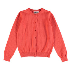 "CARDIGAN ""GEORGINA"" Hot Coral"