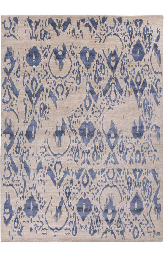 10124 - Vegetable Dye Wool and Silk Large Rug - 300X400cm